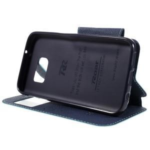 Diary puzdro s okienkom pre Samsung Galaxy S7 - svetlomodré - 4