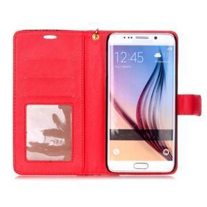 Croco styl peněženkové pouzdro na Samsung Galaxy S7 - červené - 4