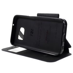 Diary pouzdro s okýnkem na Samsung Galaxy S7 - tmavěmodré - 4