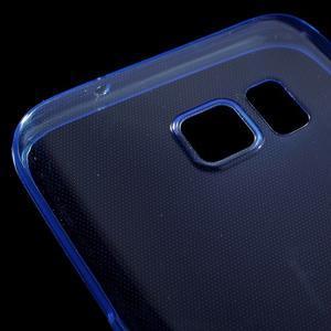 Ultratenký gélový obal pre mobil Samsung Galaxy S7 - modrý - 4