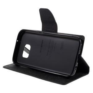 Goosper PU kožené pouzdro na Samsung Galaxy S7 - černé - 4