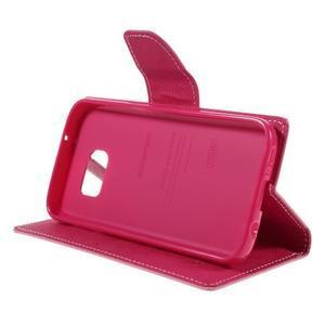 Goosper PU kožené puzdro pre Samsung Galaxy S7 - ružové - 4
