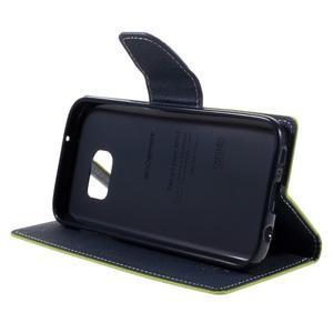 Goosper PU kožené puzdro pre Samsung Galaxy S7 - zelené - 4