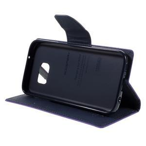 Goosper PU kožené puzdro pre Samsung Galaxy S7 - fialové - 4