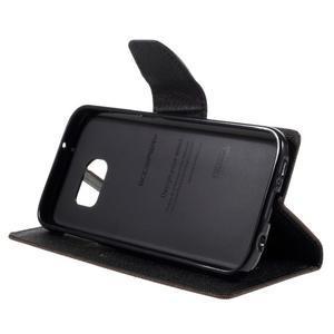 Goosper PU kožené pouzdro na Samsung Galaxy S7 - hnědé - 4