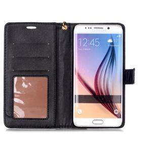 Croco styl peňaženkové puzdro pre Samsung Galaxy S7 - čierne - 4