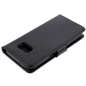 Luxury PU kožené pouzdro na Samsung Galaxy S7 - černé - 4