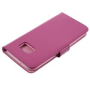 Luxury PU kožené puzdro pre Samsung Galaxy S7 - rose - 4