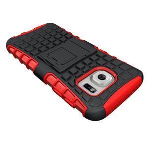 Outdoor odolný obal pre mobil Samsung Galaxy S7 - červený - 4