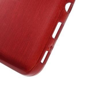 Brush gélový obal pre mobil Samsung Galaxy S7 - červený - 4