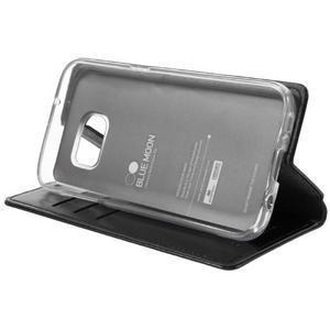Bluemoon PU kožené puzdro pre mobil Samsung Galaxy S7 - čierne - 4