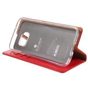 Bluemoon PU kožené puzdro pre mobil Samsung Galaxy S7 - červené - 4