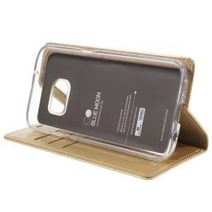 Bluemoon PU kožené pouzdro na mobil Samsung Galaxy S7 - zlaté - 4