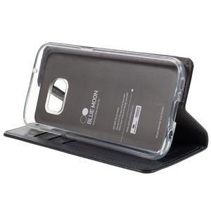 Bluemoon PU kožené puzdro pre mobil Samsung Galaxy S7 - tmavomodré - 4