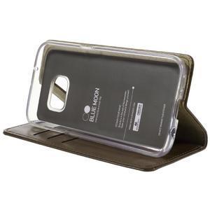 Bluemoon PU kožené pouzdro na mobil Samsung Galaxy S7 - hnědé - 4