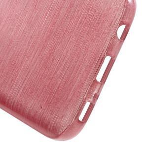 Brush gélový obal pre mobil Samsung Galaxy S7 - ružový - 4