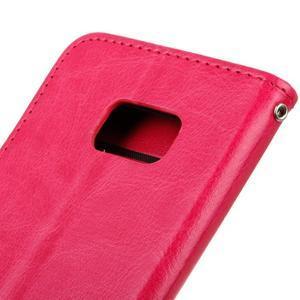 Stand peňaženkové puzdro pre Samsung Galaxy S7 - rose - 4