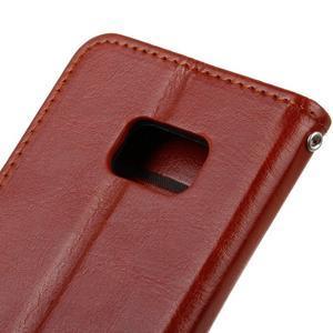 Stand peňaženkové puzdro pre Samsung Galaxy S7 - hnedé - 4