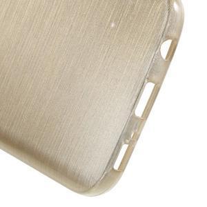 Brush gélový obal pre mobil Samsung Galaxy S7 - zlatý - 4