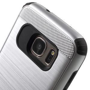 Dvoudílný odolný kryt na Samsung Galaxy S7 - stříbrný - 4