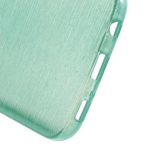 Brush gélový obal pre mobil Samsung Galaxy S7 - cyan - 4
