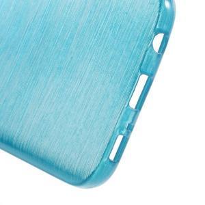 Brush gélový obal pre mobil Samsung Galaxy S7 - modrý - 4