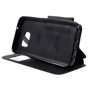 Diary pouzdro s okýnkem na Samsung Galaxy S7 - černé - 4