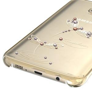 Swarowski plastový obal s kamínky na Samsung Galaxy S7 - vážky - 4