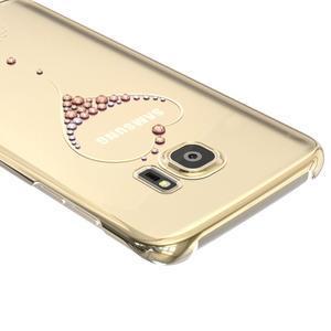 Swarowski plastový obal s kamínky na Samsung Galaxy S7 - srdce - 4