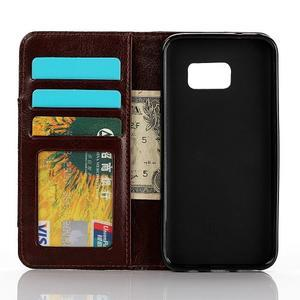 Jeans puzdro pre mobil Samsung Galaxy S7 edge - tmavomodré - 4
