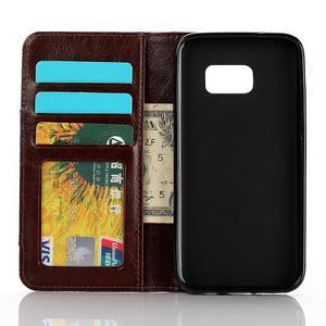 Jeans pouzdro na mobil Samsung Galaxy S7 edge - černomodré - 4