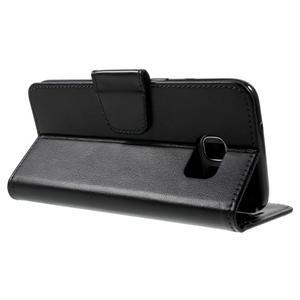 Rich PU kožené puzdro pre Samsung Galaxy S7 edge - čierne - 4