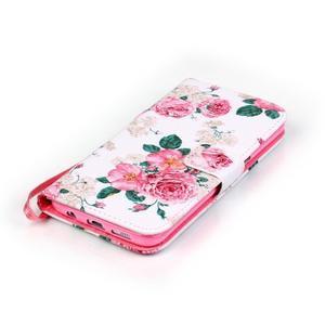 Kvetinové peňaženkové puzdro pre Samsung Galaxy S7 Edge - 4