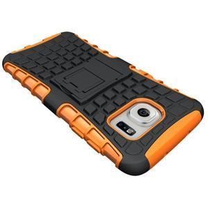 Odolný outdoor kryt na Samsung Galaxy S7 edge - oranžový - 4