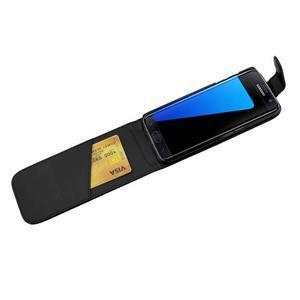 Flipové puzdro pre mobil Samsung Galaxy S7 edge - čierne - 4