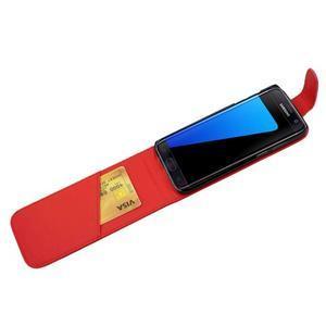 Flipové pouzdro na mobil Samsung Galaxy S7 edge - červené - 4