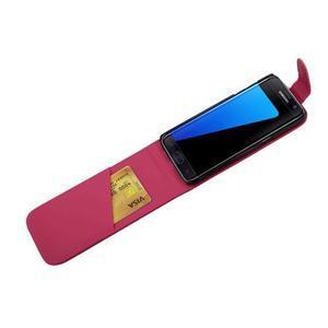 Flipové pouzdro na mobil Samsung Galaxy S7 edge - rose - 4
