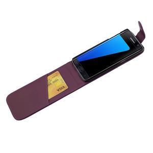 Flipové puzdro pre mobil Samsung Galaxy S7 edge - fialové - 4