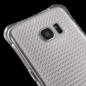 Glitter gelový obal na Samsung Galaxy S7 edge - transparentní - 4
