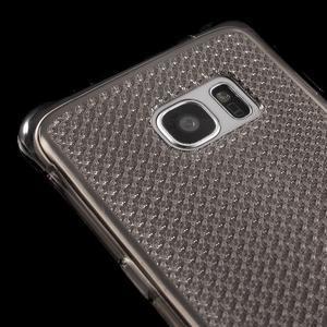 Glitter gélový obal pre Samsung Galaxy S7 edge - šedý - 4