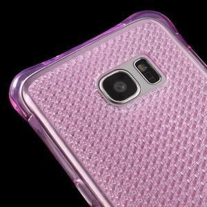Glitter gélový obal pre Samsung Galaxy S7 edge - rose - 4