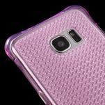 Glitter gelový obal na Samsung Galaxy S7 edge - rose - 4/5