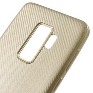 Flexi gélový obal so štruktúrou na Samsung Galaxy S9 Plus - zlatý - 4