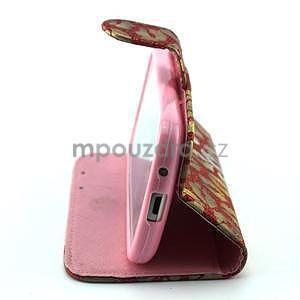 Pusinky peňaženkové puzdro na Samsung Galaxy S4 Mini - červené - 4