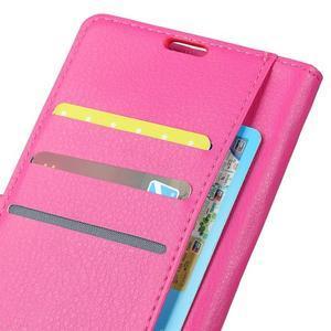 Litchi PU kožené púzdro na Sony Xperia L2 - rose - 4