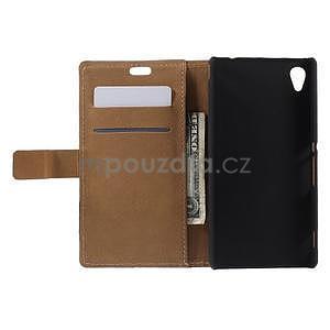 Peňaženkové puzdro pre Sony Xperia M4 Aqua - šikmá veža - 4