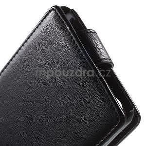 Čierne flipové puzdro pre Sony Xperia M4 Aqua - 4