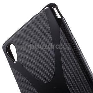 Čierny gélový obal pre Sony Xperia M4 Aqua - 4