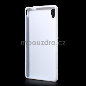 Biely gélový obal pre Sony Xperia M4 Aqua - 4