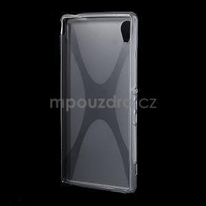 sivý gélový obal pre Sony Xperia M4 Aqua - 4